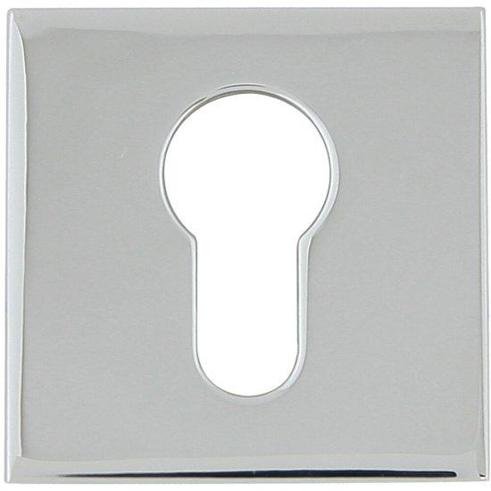 Szyld drzwiowy kwadratowy KWADRAT-QR wkładka bebenkowa chrom lakierowany TUPAI