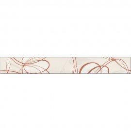 Gres szkliwiony VELVET biało-brązowy listwa mat 7,5x59,8 gat. I