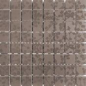 Płytka ścienna LIRYKA brązowa mozaika błyszcząca 25x25 gat. I