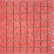 Płytka ścienna LIRYKA czerwona mozaika błyszcząca 25x25 gat. I