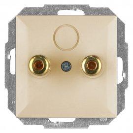 Gniazdo głośnikowe modułowe PERŁA moduł PT-2GP beżowy Abex