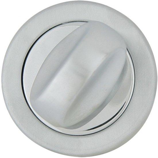 Szyld drzwiowy okrągły 555 WC chrom lakierowany/satyna ROSSETTI