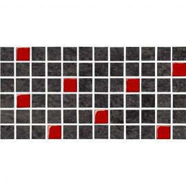 Gres szkliwiony KAROO grafitowy mozaika mat 14,7x29,7 gat. I