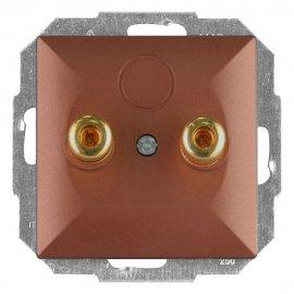 Gniazdo głośnikowe modułowe PERŁA moduł PT-2GP miedź Abex