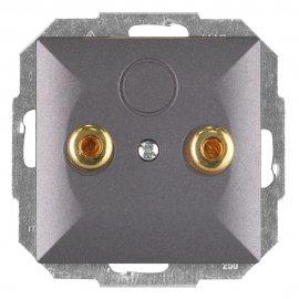 Gniazdo głośnikowe modułowe PERŁA moduł PT-2GP antracyt Abex