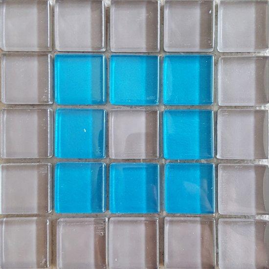 Płytka ścienna multikolor mozaika B new błyszcząca 14,8x14,8 gat. I
