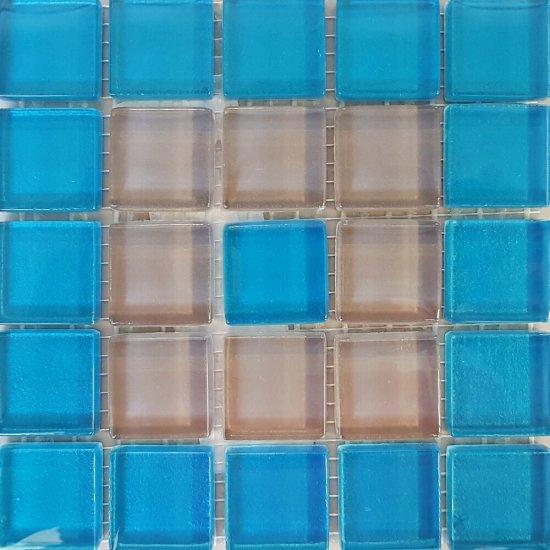 Płytka ścienna multikolor mozaika C new błyszcząca 14,8x14,8 gat. I