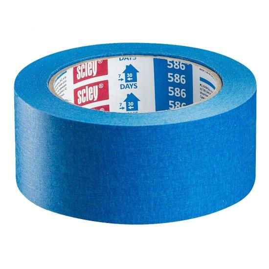 Taśma *586* 48x33m niebieska papierowa HARDY WORKING TOOLS