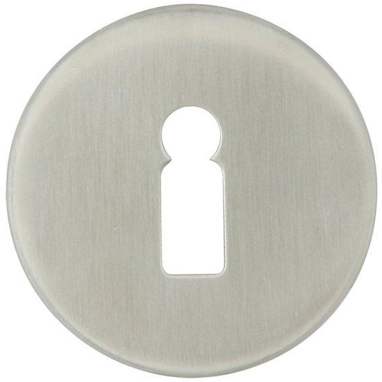 Szyld drzwiowy okrągły LUI klucz stal nierdzewna Domino