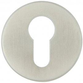 Szyld drzwiowy okrągły LUI wkładka bębenkowa stal nierdzewna Domino