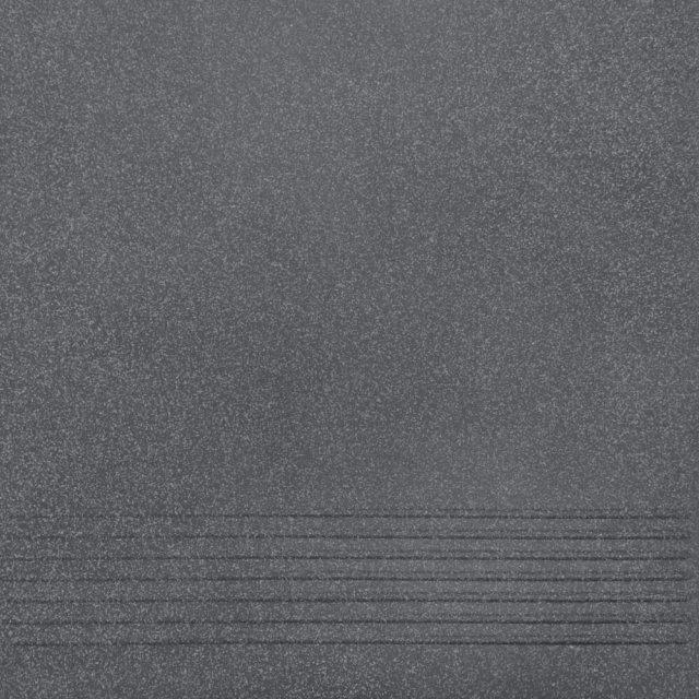 Gres techniczny NOSO grafitowy stopnica mat 30x30 gat. I