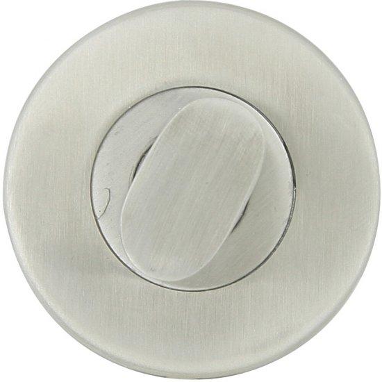 Szyld drzwiowy okrągły LUI WC stal nierdzewna Domino
