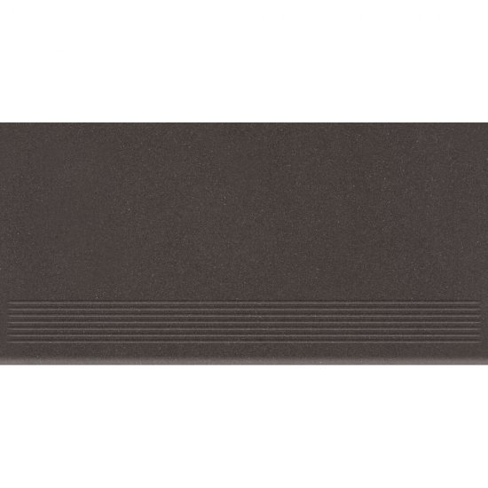 Gres zdobiony MOONDUST czarny stopnica mat 29,55x59,4 gat. I*