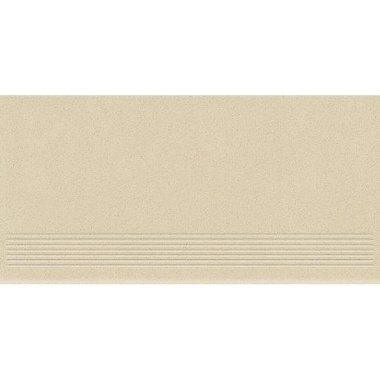 Gres zdobiony MOONDUST kremowy stopnica mat 29,55x59,4 gat. I*