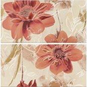 Płytka ścienna LAZIO beżowa inserto kwiaty 58,3x59,3 gat. I