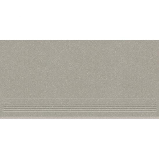 Gres zdobiony MOONDUST jasnoszary stopnica mat 29,55x59,4 gat. I