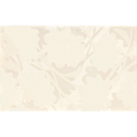 Płytka ścienna LAVANDE biała inserto kwiaty błyszcząca 25x40 gat. I