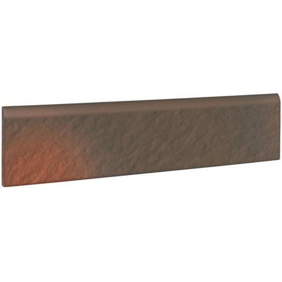 Klinkier SHADOW BROWN brązowy cokół struktura 3-D mat 8x30 gat. I