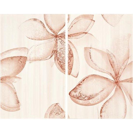 Płytka ścienna LILIUM różowa inserto kwiaty mat 40x50 gat. I