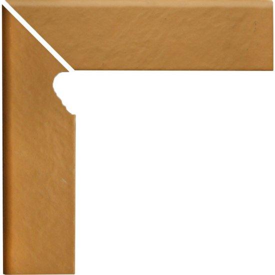 Klinkier SIMPLE SAND piaskowy cokół schodowy lewy struktura 3-D mat 8x30 gat. I