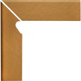 Klinkier SIMPLE SAND piaskowy cokół schodowy lewy 3-D mat 8x30 gat. I