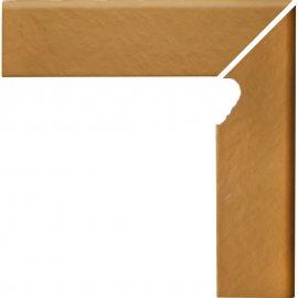 Klinkier SIMPLE SAND piaskowy cokół schodowy prawy struktura 3-D mat 8x30 gat. I