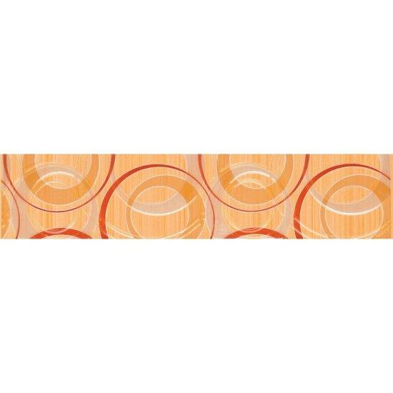 Płytka ścienna ATOLA pomarańczowa listwa koła błyszcząca 6,5x30 gat. I