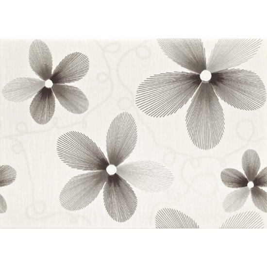 Płytka ścienna VENEZIA biała inserto kwiaty mat 25x35 gat. I