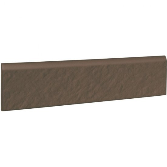 Klinkier SIMPLE BROWN brązowy cokół 3-D mat 8x30 gat. I