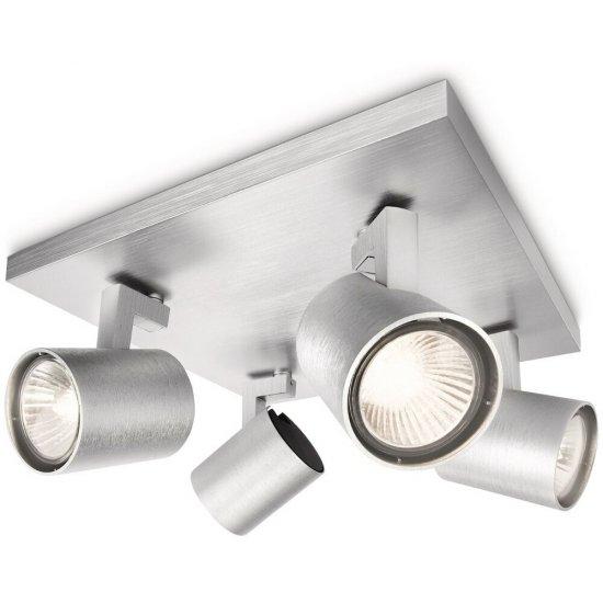 Lampa sufitowa 4x50 W, GU10 RUNNER srebrna 53094/48/12 Philips