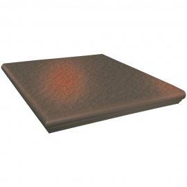 Klinkier SHADOW BROWN brązowy kapinos narożny struktura 3-D mat 33x33 gat. I