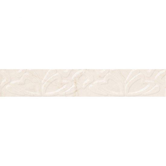 Płytka ścienna SENO biała listwa błyszcząca 5x30 gat. I