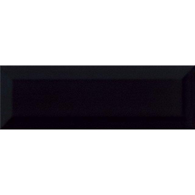 Płytka ścienna METRO STYLE czarna błyszcząca 9,8x29,8 gat. I