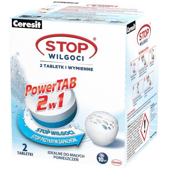 Tabletki wymienne CERESIT STOP Wilgoci Power TAB 2x300g