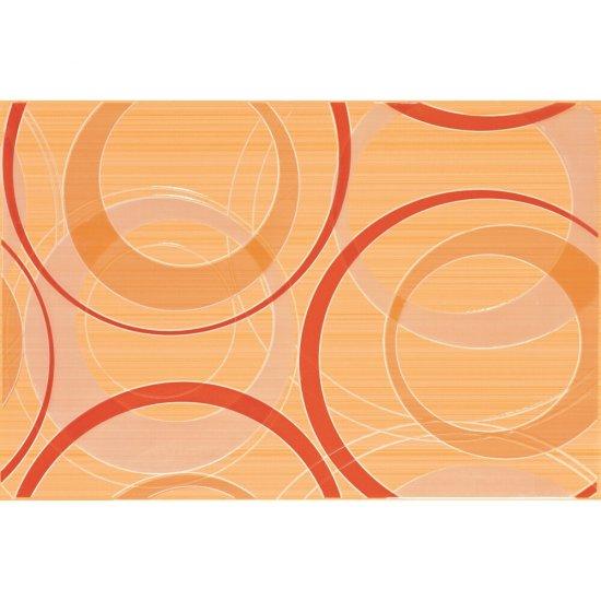 Płytka ścienna ATOLA pomarańczowa inserto koła błyszcząca 30x45 gat. I