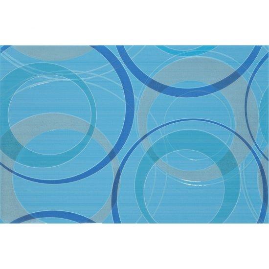 Płytka ścienna ATOLA niebieska inserto koła błyszcząca 30x45 gat. I