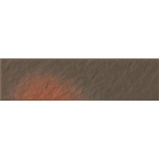 Klinkier SHADOW BROWN brązowy elewacyjny 3-D mat 6,5x24,5 gat. I