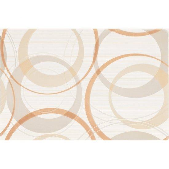 Płytka ścienna ATOLA biało-pomarańczowa inserto koła błyszcząca 30x45 gat. I