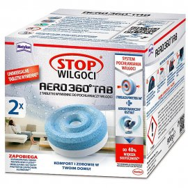 Tabletki wymienne CERESIT STOP Wilgoci AERO 360 neutralne 2x450g