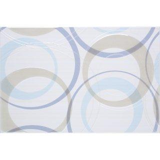 Płytka ścienna inserto koła 30x45 Atola bianco/ blue Cersanit