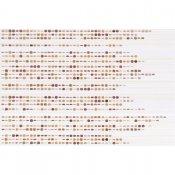 Płytka ścienna ATOLA pomarańczowa inserto koraliki beta błyszcząca 30x45 gat. I