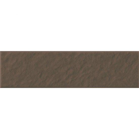 Klinkier SIMPLE BROWN brązowy elewacyjny 3-D mat 6,5x24,5 gat. I