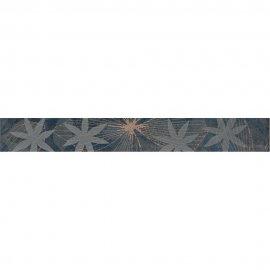 Płytka ścienna ELVANA niebieska listwa błyszcząca 5x40 gat. I
