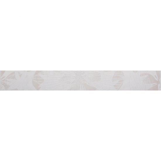 Płytka ścienna ELVANA biała listwa błyszcząca 5x40 gat. I