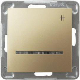 Łącznik modułowy IMPRESJA krzyżowy z podśw. złoty metalik Ospel