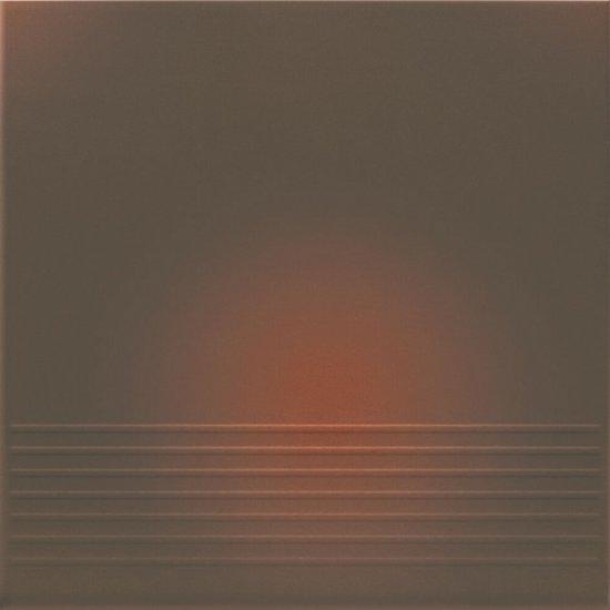 Klinkier SHADOW BROWN brązowy stopnica mat 30x30 gat. I