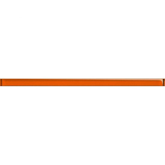 Płytka ścienna UNIVERSAL GLASS DECORATIONS pomarańczowa listwa błyszcząca 2x45 gat. I