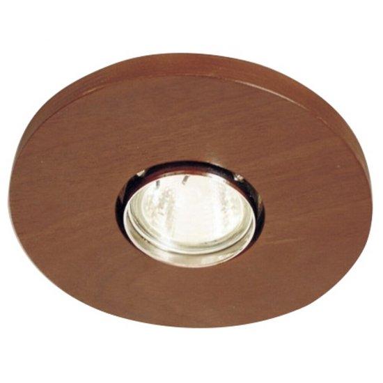 Oprawa punktowa sufitowa OCZKO STROPOWE okrągłe orzech ciemny 1199O1G209 Cleoni