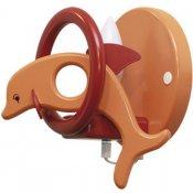 Kinkiet dziecięcy Delfin 0402.02 pomarańczowo-czerwony Klik