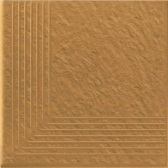 Klinkier SIMPLE SAND piaskowy stopnica narożna struktura 3-D mat 30x30 gat. I